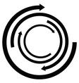 Isolated arrow icon vector image