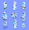 isometric robots isometric robotic home assistant vector image vector image