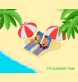 it s summer time summer party concept fun party vector image vector image