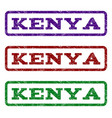 kenya watermark stamp vector image