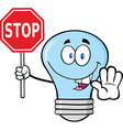 Light bulb holding a sign vector image vector image