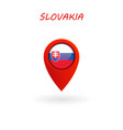 location icon for slovakia flag eps file vector image vector image