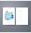 Modern mobile maps and navigation flat icon cards vector image vector image