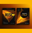 music club party flyer poster design template vector image vector image