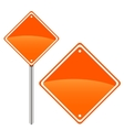 New road sign vector image vector image