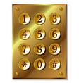 number code keyboard vector image vector image