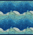 ocean waves big 3 vector image vector image