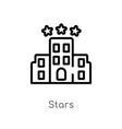 outline stars icon isolated black simple line vector image vector image