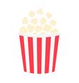 popcorn icon cinema movie night big size red vector image vector image
