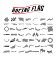 racing flag collection set vector image