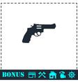 Revolver icon flat vector image vector image