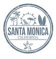 santa monica grunge rubber stamp vector image