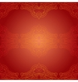 Seamless red ethnic pattern vector image vector image