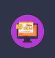 sem search engine marketing web analytics vector image vector image
