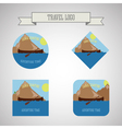 set kayaking and canoe camp logo expedition vector image vector image
