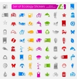 Set of ecology stickers vector image vector image