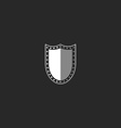 Shield logo black and white symbol mockup security vector image vector image