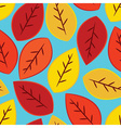 single yellow orange and red fall leaves seamles vector image vector image
