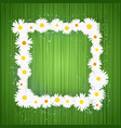 square floral frame with lights effect on vector image vector image