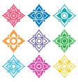 Thai folk art pattern - flower shape vector image vector image
