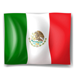 The flag of mexico vector | Price: 1 Credit (USD $1)