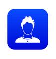 user icon digital blue vector image