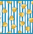 vegeterian seamless pattern with yellow random vector image vector image