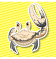 White crab vector image vector image