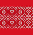 winter holiday seamless knitted pattern vector image