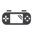 handheld game console solid icon controller vector image