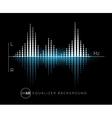 Equalizer digital sound design element vector image