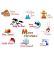 Winter holidays symbols vector image