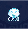cloud sport logo template vector image
