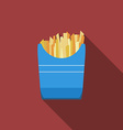 Flat design fried potato icon with long shadowFlat vector image