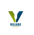 logo for village appartment company vector image