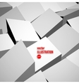 3D blocks background vector image vector image