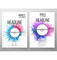 Abstract circle white banners with place for text vector image vector image