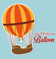 Airballoon design over blue background vector image vector image