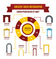 ancient arch infographic concept flat style vector image vector image
