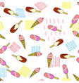 assorted ice cream seamless pattern vector image vector image