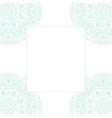 bablue mandala card template background vector image vector image