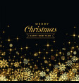 beautoful black background with golden snowflakes vector image vector image
