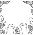 beer menu design template vector image vector image
