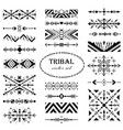 black-and-white modern set brush in tribal style vector image