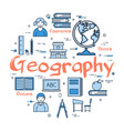 blue round geography concept vector image vector image