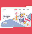 business growth isometric landing page vector image vector image