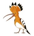 Cartoon smiling Hoopoe vector image