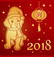 chinese new year greeting card or square banner vector image vector image