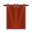 Door isolated vector image