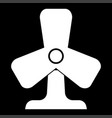 fan it is the white color icon vector image vector image